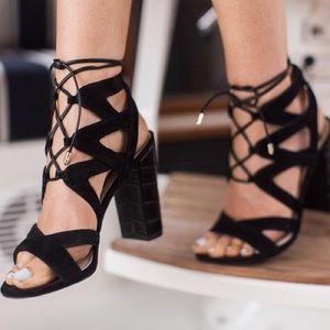 Sam Edelman Yardley Suede Lace-Up Sandal